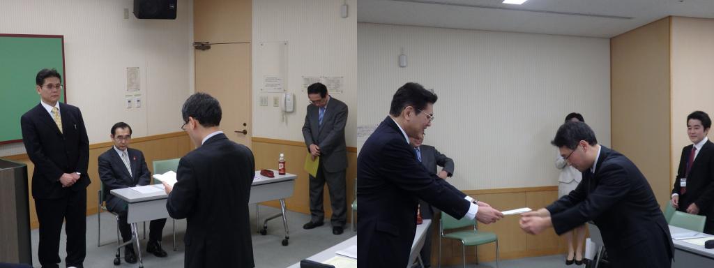 塾生代表の松浦さんによる謝辞の様子